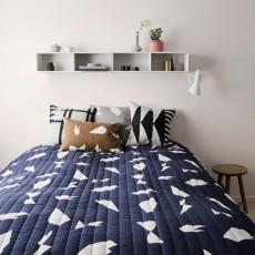 Ferm Living Couverture Cut - Bleu - 235x245 cm-listing