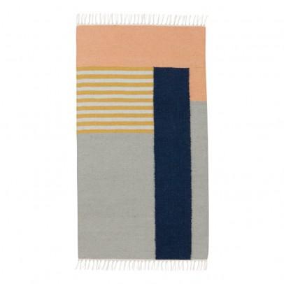 Ferm Living Alfombra Kelim - Líneas blancas - 80x140 cm-listing