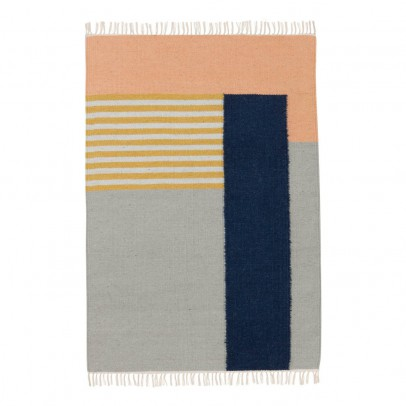 Ferm Living Tappeto Kelim - Linee bianche - 140x200 cm-listing