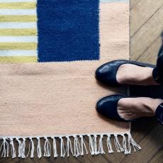Ferm Living Alfombra Kelim - Líneas blancas - 140x200 cm-product