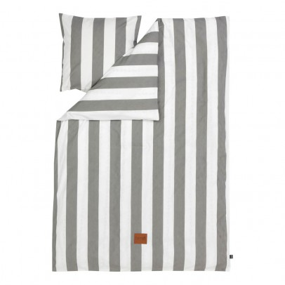 Ferm Living Vertigo Bedding Set - Grey - 140x200 cm-product