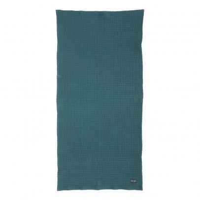 Ferm Living Serviette de bain - Bleu pétrole - 70x140 cm-listing