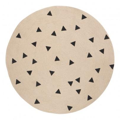 Ferm Living Alfombra redonda triángulos negros 100 cm-product
