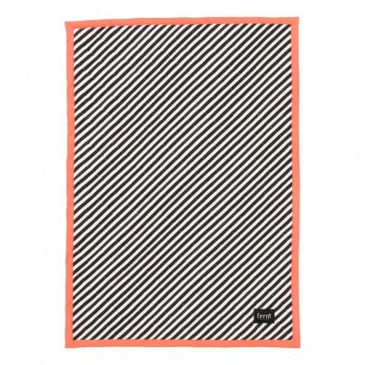 Ferm Living Couverture rayée 100x70 cm - Rose fluo-listing