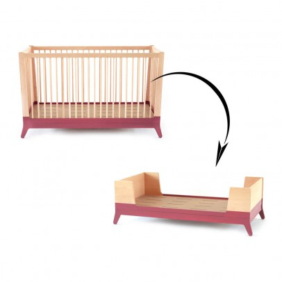 Nobodinoz Crib Conversion Kit - Brick Red-listing