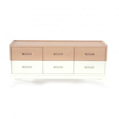 Nobodinoz Commode 6 tiroirs - Blanc-listing