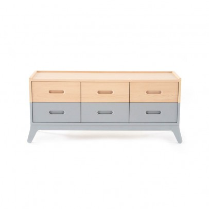 Nobodinoz 6-drawer Chest of Drawers - Grey-listing
