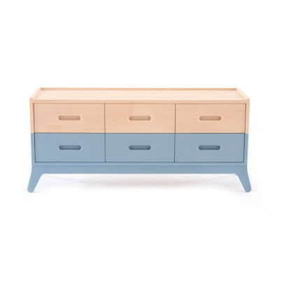 Nobodinoz 6-drawer Chest of Drawers - Blue-product