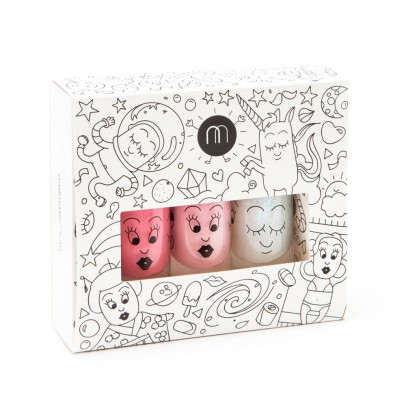 Nailmatic Kids Pack 3 vernis Cosmos roses-listing