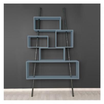 Laurette Bookcase 'la folie' dark grey-listing