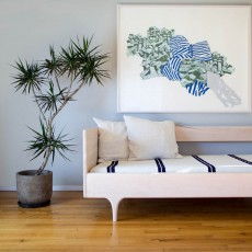 Kalon Studios Bett für eine Person 90 x 200 cm Caravan Natur-listing