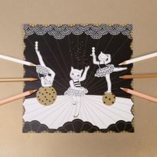 Mon Petit Art Ausmalbild black Eine Nacht im Zirkus -listing