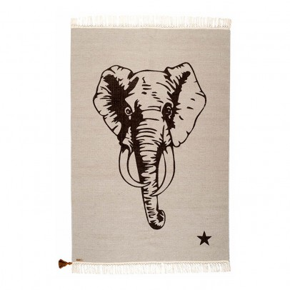 Varanassi Gypsy Teppich aus Baumwolle- Elefant-listing