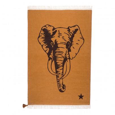 Varanassi Gypsy Cotton Rug - Elephant-listing