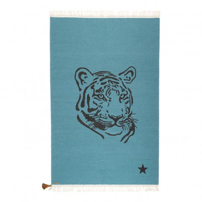 Varanassi Gypsy Cotton Rug - Tiger-listing