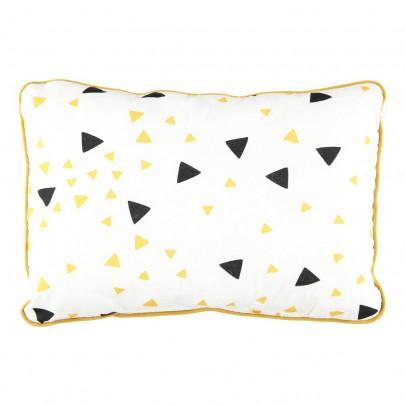 Nobodinoz Coussin Jack triangles noir jaune 23x34 cm-product