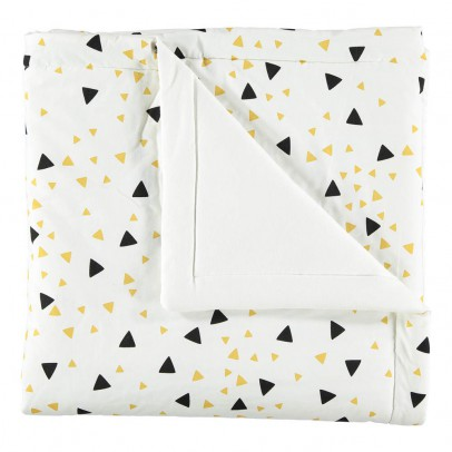 Nobodinoz Yellow and Black Triangle Quilt-listing