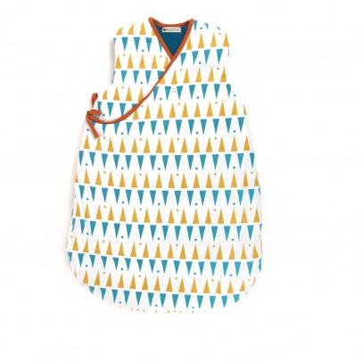Nobodinoz Yellow and Blue Triangle Baby Sleeping Bag-listing