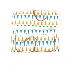 Nobodinoz Matelas à langer Berlin triangles jaune bleu-product