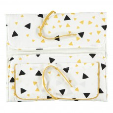 Nobodinoz Yellow and Black Triangles Changing Mat-listing