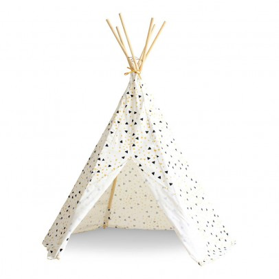 Nobodinoz Tipi Arizona triangles noir jaune-listing