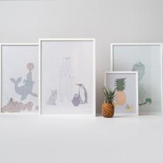 garbo&friends Affiche hiboux 50x70 cm-listing