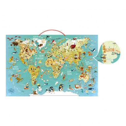 Vilac Carte magnétique du monde fantastique-listing