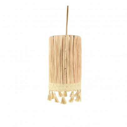 Honoré Cylindrical Raffia Suspension with Tassels-listing
