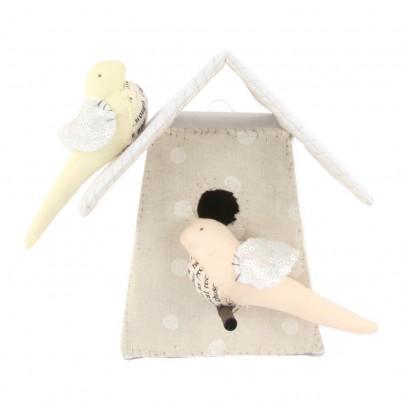 Tamar Mogendorff Vogelhäuschen mit 2 Vögel -Weiß und Rosa-listing