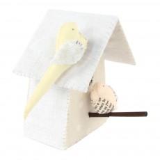Tamar Mogendorff Nido con 2 pájaros - Blanco y rosa-listing
