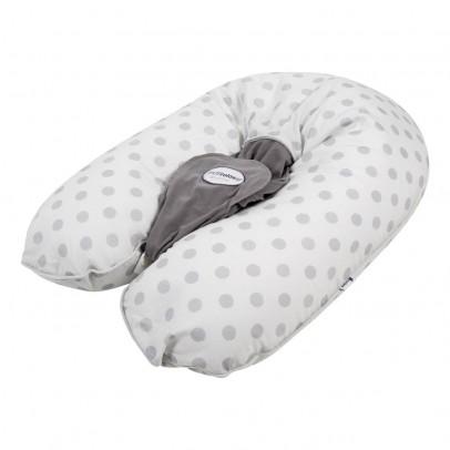 Candide Coussin d'allaitement Multirelax jersey coton imprimé pois gris-listing