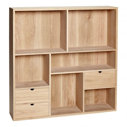Hübsch Wall-mounted 3-drawer Shelf-listing
