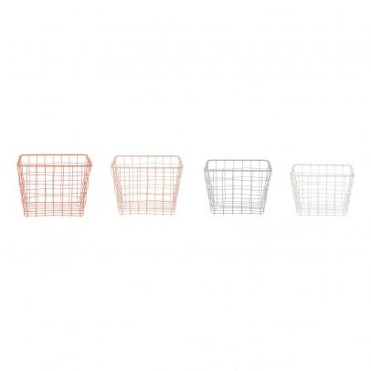 Present Time Set of 4 Pale Linea Baskets-listing