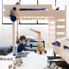 Rafa Kids Lit mezzanine double échelle Funk bed-listing