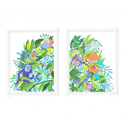 "Little Cabari Little Cabari x The little collectors Diptych limited edition Poster ""Maroola"" 50x65 cm-listing"