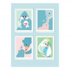 Little Cabari Affiche singe 30x40 cm Little Cabari x Les Petits Collectionneurs-listing