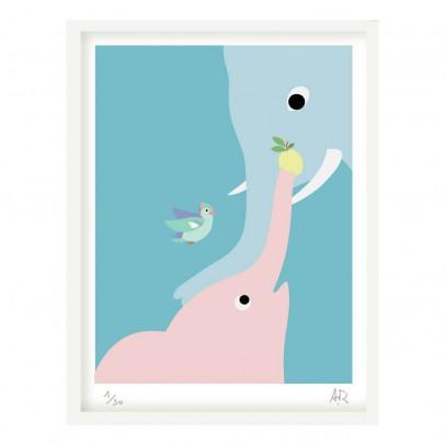 Little Cabari Affiche éléphant 30x40 cm Little Cabari x Les Petits Collectionneurs-listing