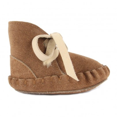 Donsje Pina Fur Leather Slippers-listing