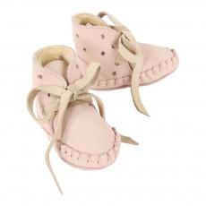 Donsje Pina Star Fur Nubuck Leather Slippers-listing