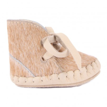Donsje Chaussons Cuir Fourrés Pina Exclusive-listing