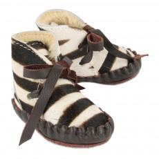 Donsje Leder-Hausschuhe gefüttert Zebra Pina Exclusive-listing