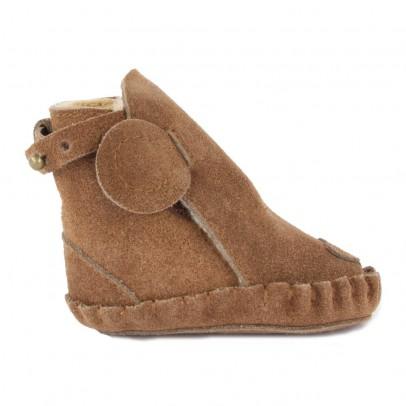 Donsje Fur Leather Bear Slippers-listing