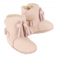 Donsje Scarpine Pelle Imbottita con Frange Lolo Boots-listing