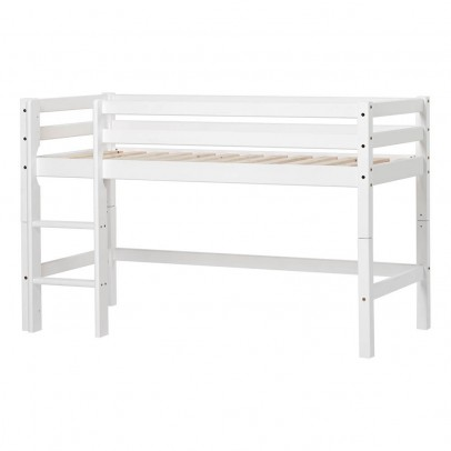 Hoppekids Basic Low Loft Bed with Ladder 70x160 cm-listing