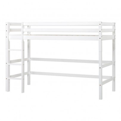 Hoppekids Basic Mid-High Loft Bed With Ladder 90x200 cm-listing