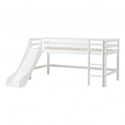 Hoppekids Basic Low Loft Bed with Ladder and Slide 90x200 cm-listing