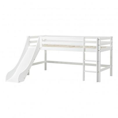 Hoppekids Cama alta bajo Basic con escalera y tobogán 90x200 cm-listing