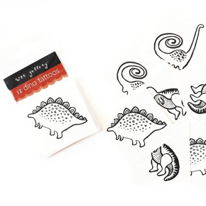 Wee Gallery Dinosaurier Tattoo -listing