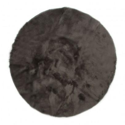 Pilepoil Tapis rond - Gris foncé-listing