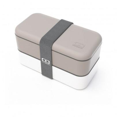 Monbento Grey & White 2-compartment Bento Box-listing